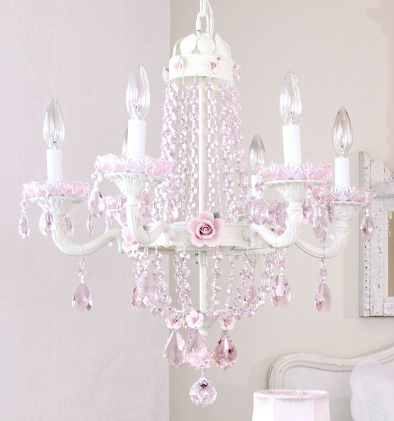 The frog and the princess shopping blog fairytale empire pink crystal and rose chandelier mozeypictures Gallery